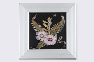 Charcoal Tile Pressed-Flower Frame