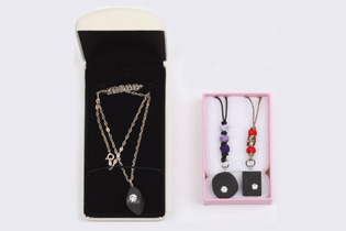 Charcoal necklace & cell phone accessory